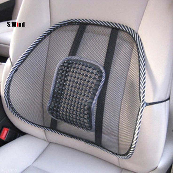 Car Seat Comfort Mesh Lumbar Back Brace Support Office Home Car Seat Chair Cushion Cool Car Comfortable Seat  Support <3 Click the image to visit the website
