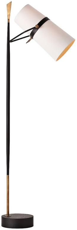 Yasmin Black Floor Lamp | Euro Style Lighting | via Justina Blakeney