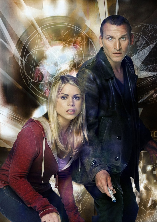 Christopher Eccleston as the Ninth Doctor with Billie Piper as Rose Tyler - 2005