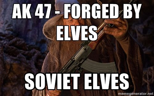 Gandalf Kalashnikov - AK 47 - Forged by Elves Soviet Elves