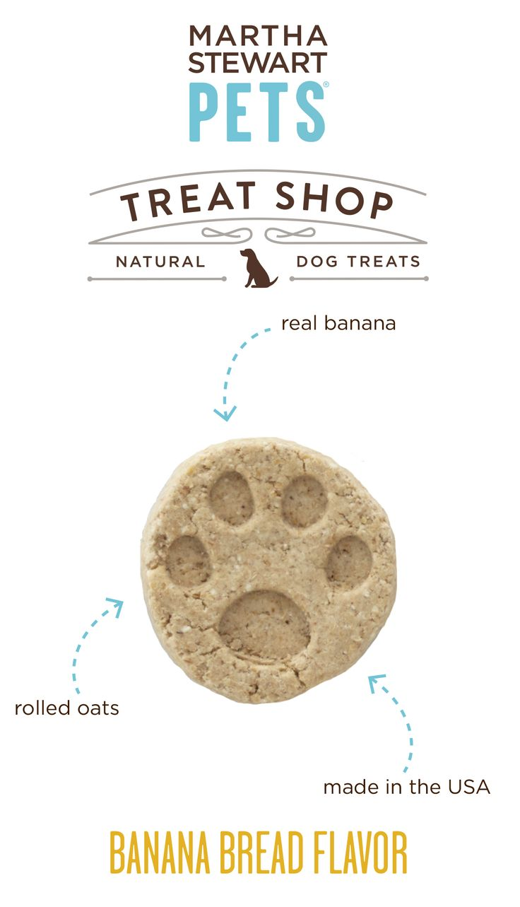 #MarthaStewartPets Treat Shop #AmericanMade natural dog biscuits contain a simple list of natural ingredients - like real banana - and they come in crunchy, bite-sized portions that are great for training or as an anytime snack - Sold only @petsmartcorp