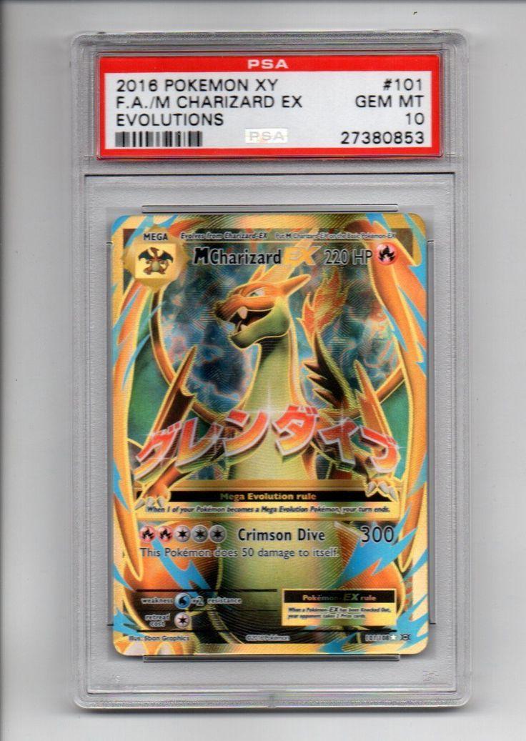 Pokemon Tcg PSA 10 Full Art Mega Charizard EX x1 Pokemon Evolutions Gem Mint