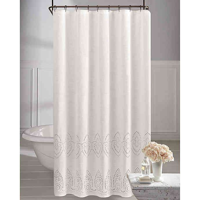 Wamsutta Vintage Eyelet Shower Curtain Bed Bath Beyond Fabric Shower Curtains Shower Remodel Tub To Shower Remodel