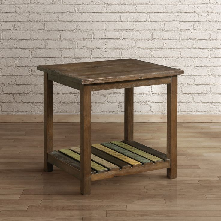 Furniture Of America Katrine Country Style Slatted Brown Cherry End Table  (Brown Cherry) | Country Style, Cherries And Outlet Store