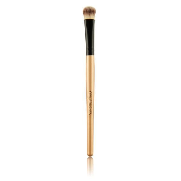 OPV Concealer Brush  help to  flawlessly applies and blends concealer and correction makeup. Gives great coverage to conceal dark circles and discoloration around the eyes with cream, liquid or powder concealers. Handle Material: 100% high quality wood, aluminiumBrush material: nylon, wool, synthetic hairColour: Golden Brown