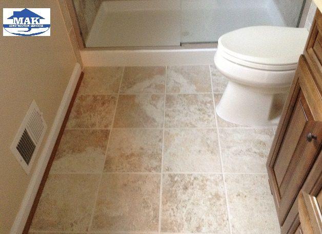 Master Bath Del Conca Roman Stone Beige Porcelain Indoor Outdoor Floor Tile Mak Laplata Md