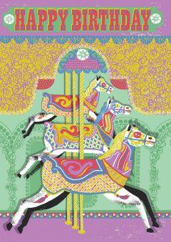 Roger la Borde | Carousel Greeting Card by Alice Patullo