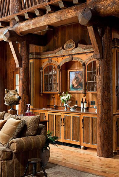 Tiny Home Designs: Very Cool Rustic Bar By Landmark Builders: Custom Homes In Whitefish, Montana.
