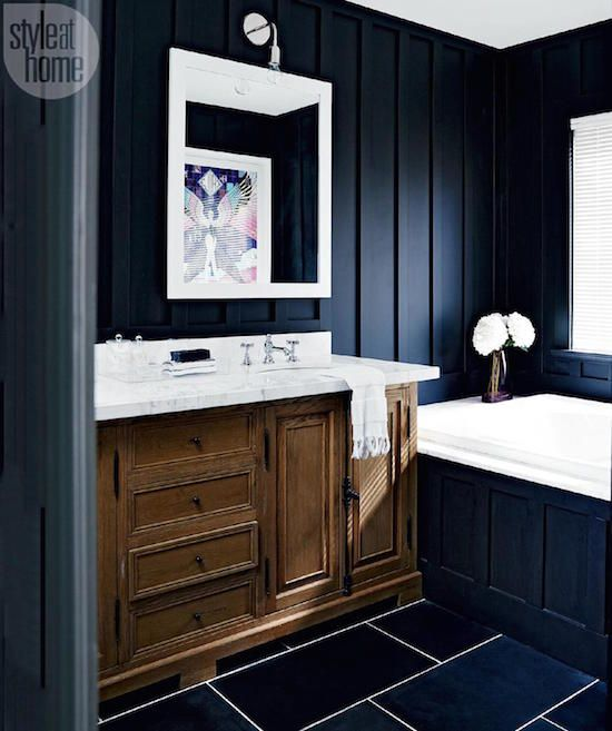 17 best images about bathroom decorating ideas on for Bathroom ideas navy blue