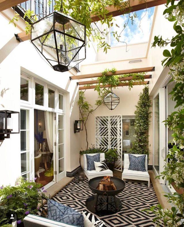 Decorazione del patio: idee per l'esterno – Lato casa