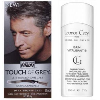 pack coloration cheveux shampoing gris chtain fonc just for men 4038 - Shampoing Colorant Gris