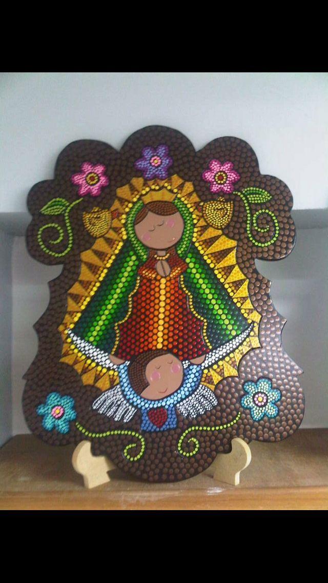 Puntillismo Virgen by Carolina