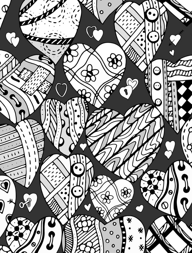 17 Best images about Adult Colouring Hearts Love