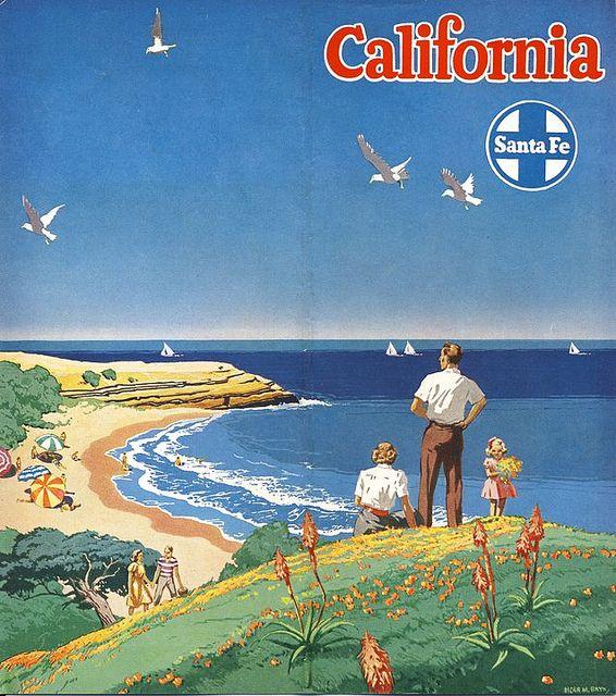 California * Santa Fe Railroad #tourism #poster