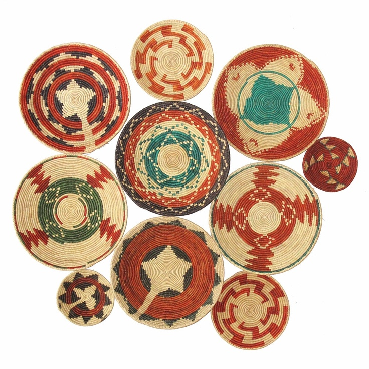 Woven Malla Bowls, Set of 6 made by Turkish Inspired Kilims, Baskets & More.
