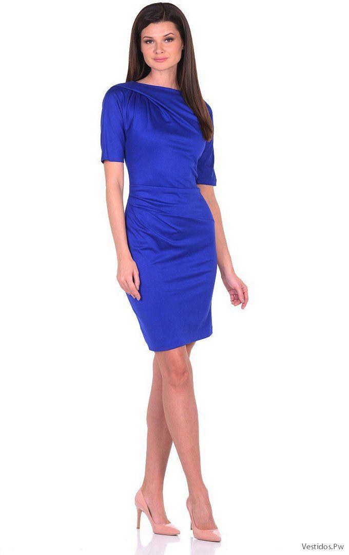 20 Vestidos Azul Electrico Cortos Color Y Tendencias