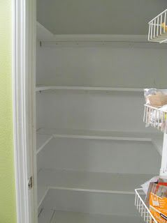 Change your pantry from deep wire shelves to wrap around shelving...Lucy Designs