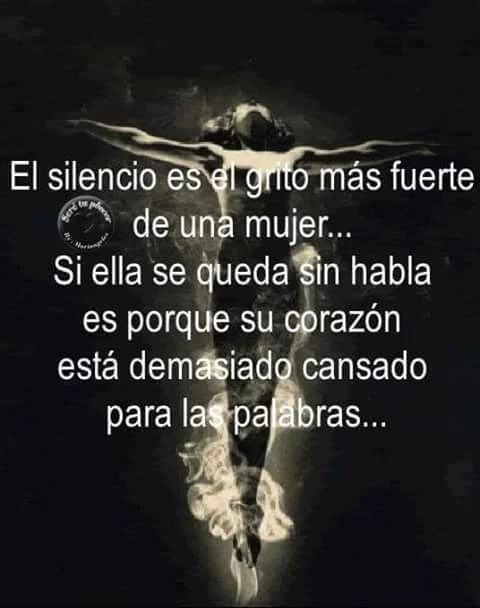 El silencio es más fuerte que un grito
