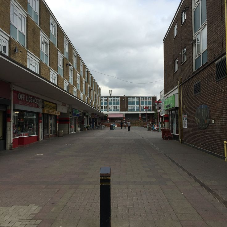 Bush Fair Shopping Centre, Harlow New Town, Essex. | by a view from the interior