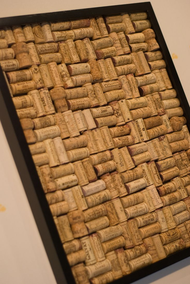 DIY wine cork bulletin board with Ikea
