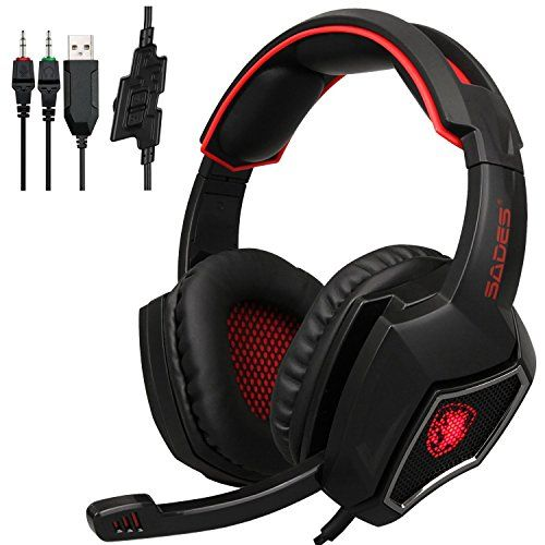 FarCry 5 Gamer  #Sades #SPIRITWOLF 3.5mm #Version #PC Over-Ear #Stereo #Gaming #Headset #Headband #Headphones with #Mic, #Noise #Reduction, #Volume #Control, #LED #Light For #Computer Gamers(Black Red)   Price:     #SADES ,with over 20 years of professional production experience and strong technical force, is outstanding in the circle of #gaming peripherals ,devoting whole life to provide highest standard and professional #gaming accessories.   Model #SPIRITWOLF is the newest