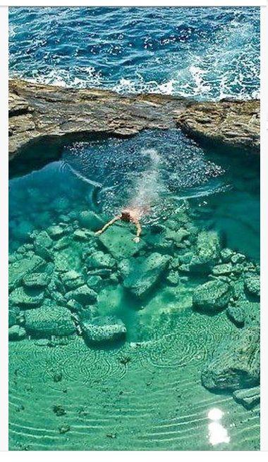 Natural pool Giola, Thasos