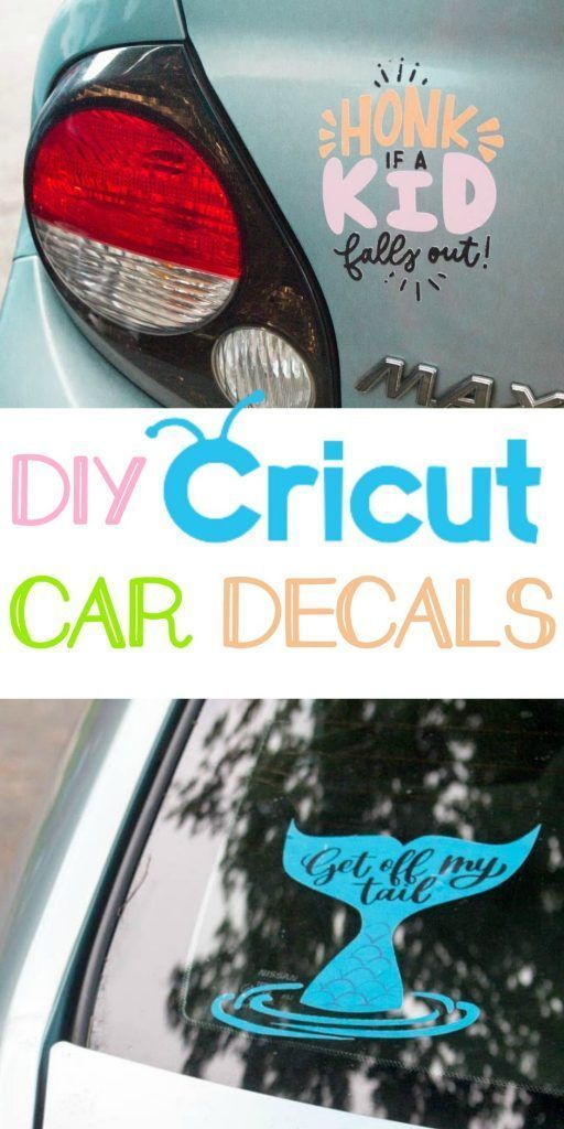 DIY Craft: DIY Cricut Car Decals - A Little Craft In Your Day. #cricut #tutorial #cricutmaker #machine