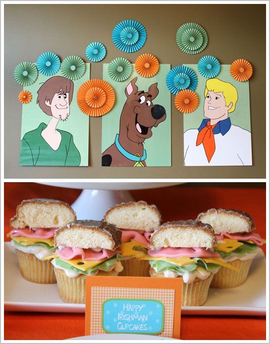 Great cupcake idea!    Google Image Result for http://www.thecakeblog.com/wp-content/uploads/2012/05/scooby_doo_birthday_1.jpg
