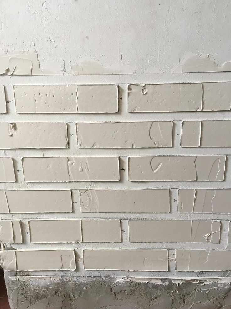 Using plaster to make fake bricks