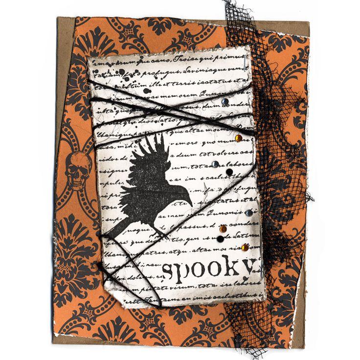 Halloween Cards To Make Ideas Part - 38: Ask Robin U2013 Spooky Bird Halloween Card