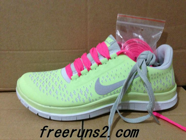 new style 02570 410ad ... Womens Nike Free 3.0 V4 Liquid Lime (Neon Mint) Reflective Silver White  Peach Lace ...