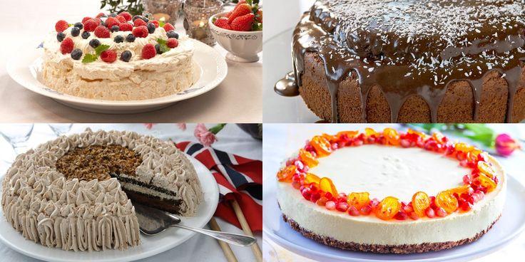 Fire oppskrifter på kake uten egg.