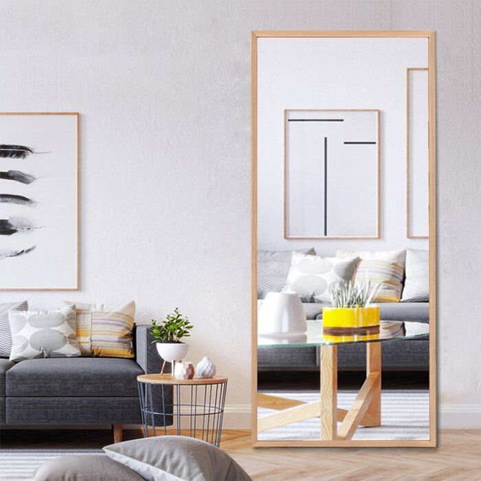 Union Rustic Minna Standing Hanging Or Leaning Against Wall Full Length Mirror Wayfair Full Length Mirror Wall Floor Mirror Full Length Mirror #standing #mirror #in #living #room