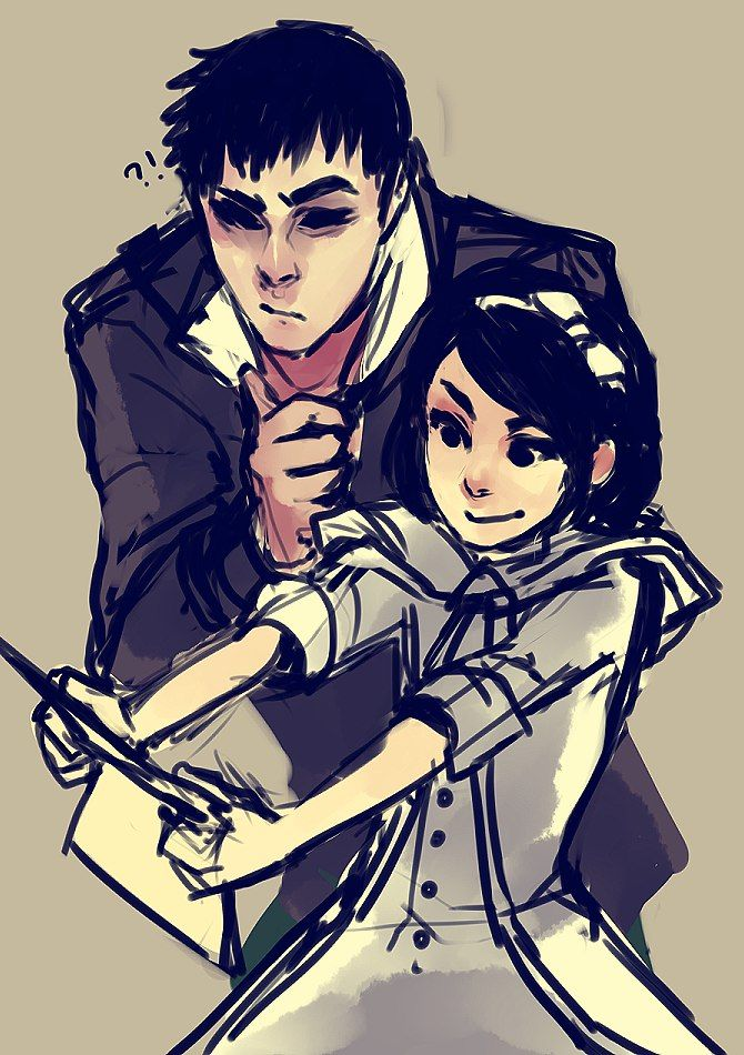 Outsider and Emily ||| Dishonored Fan Art