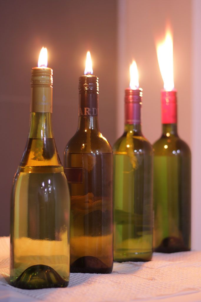 87 best images about homemade oil lamps of all kinds on for Lamps made out of wine bottles
