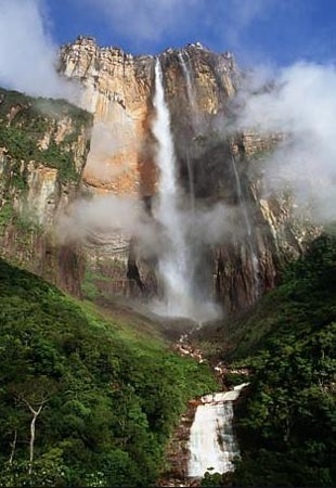 Salto Alto - Angel Falls, Venezuela - 3212 feet  It is worth the all day boat trip. Take a cushion for the hard wooden boat seats. www.missdinkles.com
