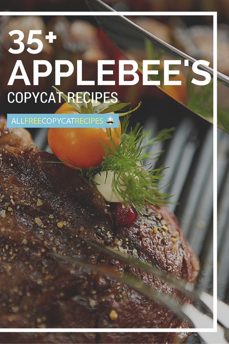 Love Applebee's? Try these restaurant recipes! They're great copycat recipes for some of your favorite foods on the Applebee's menu!