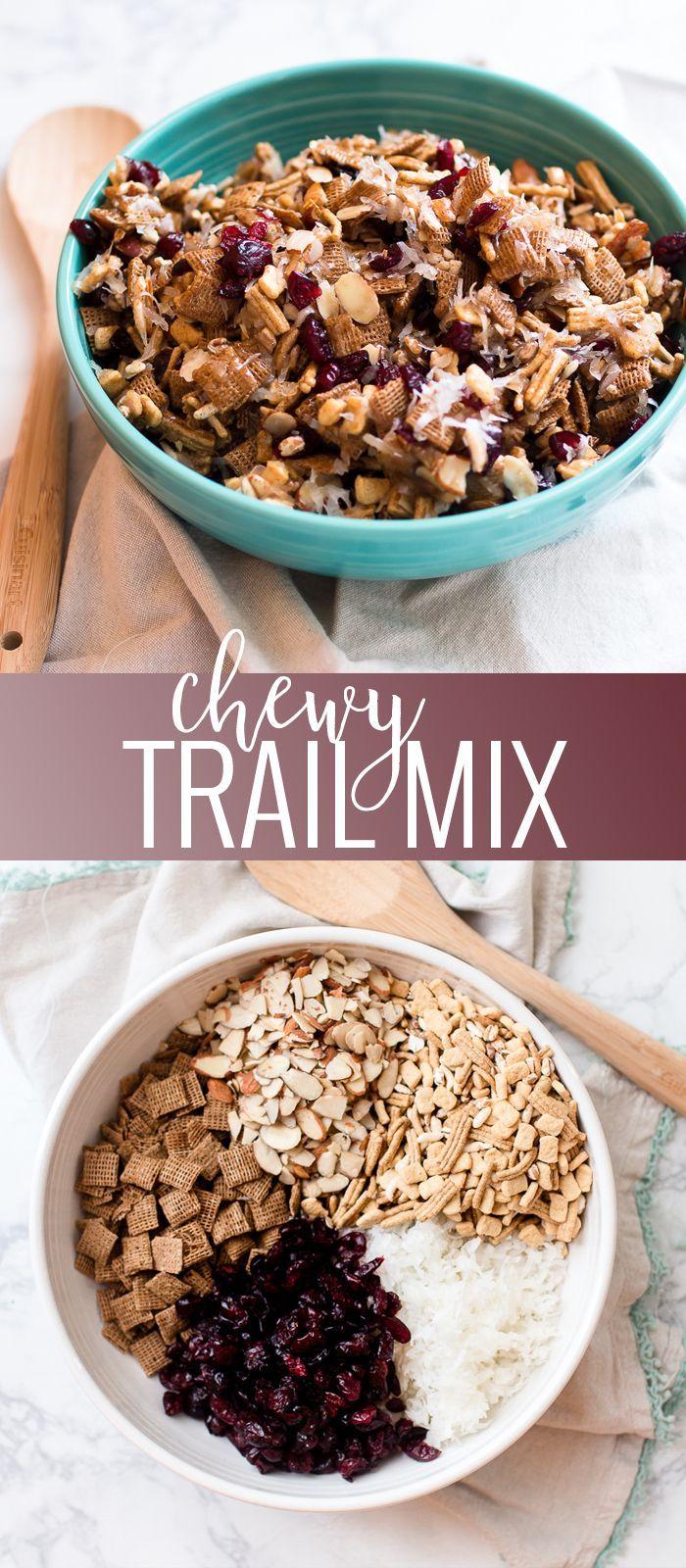 Chewy Trail Mix | homemade trail mix recipe | healthy snack recipes | how to make trail mix | trail mix recipe ideas | easy snack recipes | easy trail mix recipe || Oh So Delicioso #trailmixrecipe #easysnack #healthysnack