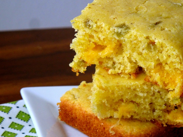 Cheddar Green Chile Cornbread | Recipe