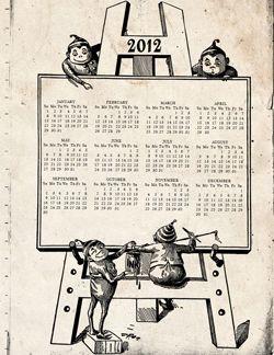 Free Printable 2012 Calendar! : Style Years, Printable Calendar, Vintage Style