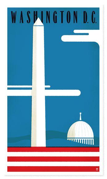 graphic Washington DC Poster: Washingtondc, Washington D C, Picture-Black Posters, Dc Posters, Retro Travel, Vintage Travel, U.S. States, Travel Posters, Washington Dc Travel