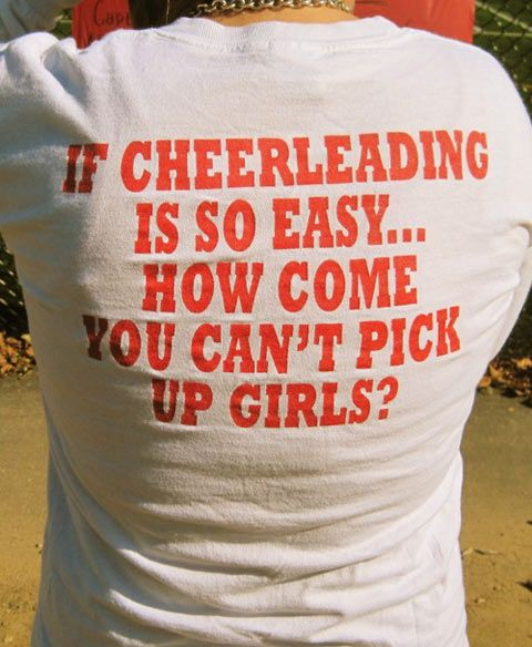 For those who make fun of male cheerleaders�