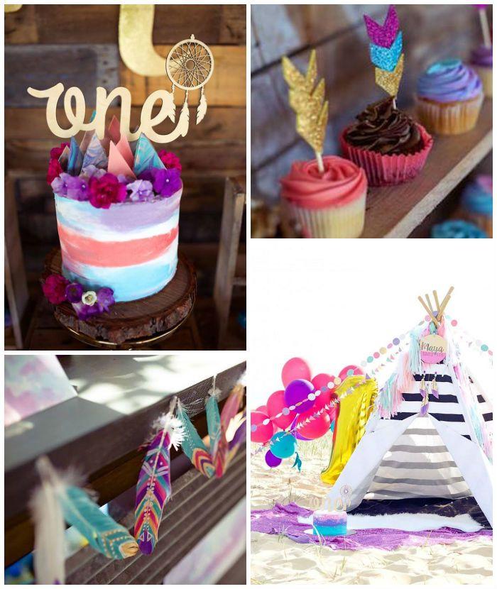 Boho Teepee 1st Birthday Party via Kara's Party Ideas | KarasPartyIdeas.com (3)