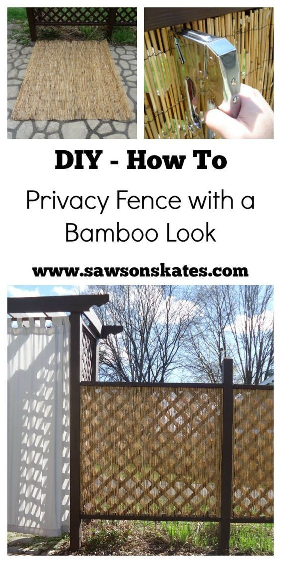 Diy privacy fence with a bamboo look the o 39 jays patio Bamboo screens for outdoors