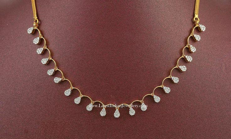 White Diamond Necklace Set