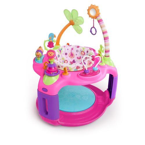 Игровой центр Bright Starts Розовое сафари 60330  Игровой центр Bright Starts Розовое сафари 60330 - яркий развивающий центр для Вашего малыша с пружинящим основанием.  Особенности игрового центра: Сиденье регулируется по росту ребенка Сиденье вращается на 360°, что обеспечивает доступ ко всем игрушкам Петли для крепления дополнительных игрушек  Яркие развивающие игрушки: - трещотка в виде львенка - стебли с попугаем и цветочком - разноцветные крутящиеся цилиндры  - логическая дуга с…