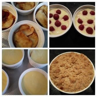 Custard met appel, kersen en Crumble uit de oven :: Caatjes Kitchen