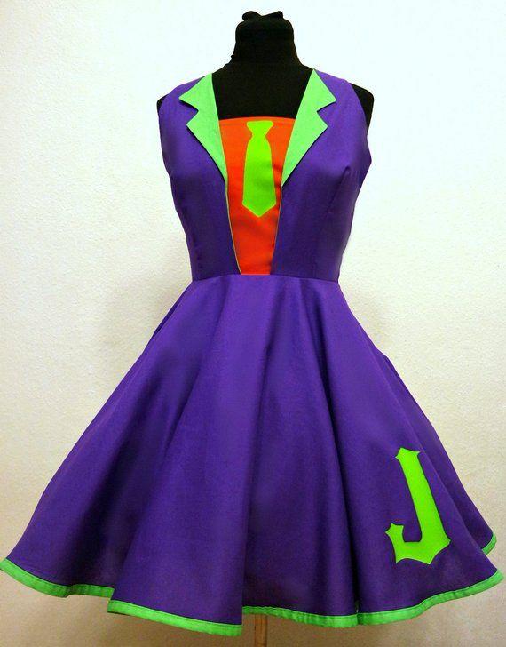 Joker Casual Cosplay Dress Harley Quinn Halloween Kostum Joker