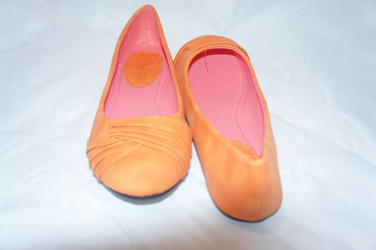 SONIA-3 NEW LADIES COGNAC/ORANGE PU BALLERINA FLATS #Anna #BalletFlats