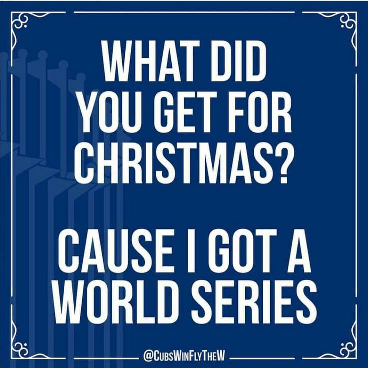 Definately a gift sooo many around the world have had on the list for over a century!!! What a great gift! Thank you 2016 Cubbies!